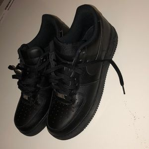 Worn once Air Force ones all black